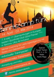 Tenniscamp Türkei Flyer