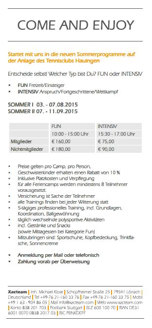 Sommercamp 2015 II